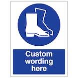 Custom Safety Footwear Sign
