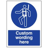 Custom Safety Harness Sign