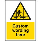 Custom Scaffolding Sign
