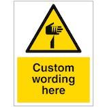 Custom Sharp Object Sign
