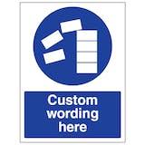 Custom Stack Correctly Sign