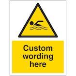 Custom Swimming Sign