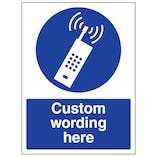 Custom Switch Off Mobile Phones Sign