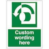 Custom Turn Anti Clockwise Sign