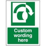 Custom Turn Clockwise Sign