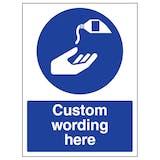 Custom Use Barrier Cream Sign