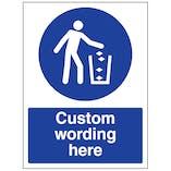Custom Use Litter Bin Sign