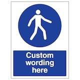 Custom Use Walkway Right Sign