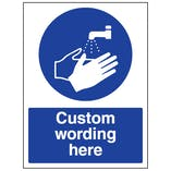 Custom Wash Hands Sign