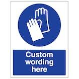 Custom Wear Gloves Sign