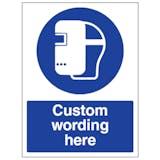 Custom Welding Mask Sign