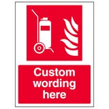 Custom Wheeled Fire Extinguisher Sign