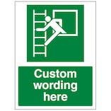 Custom Window Escape Ladder Sign