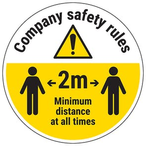 Company Rules Temporary Floor Sticker