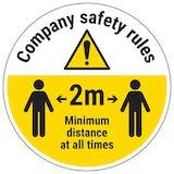 Company Rules Temporary Floor Sticker
