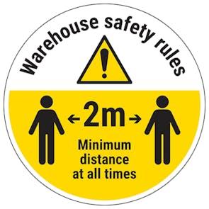Warehouse Rules Temporary Floor Sticker