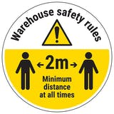 Warehouse Rules Temporary Floor Sticker