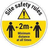 Site Safety Rules Temporary Floor Sticker