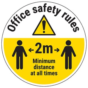 Office Safety Rules Temporary Floor Sticker