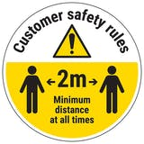 Customer Rules Temporary Floor Sticker
