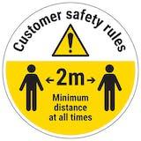 Customer Rules Temporary Floor Sticker