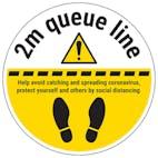 2m Queue Line Temporary Floor Sticker