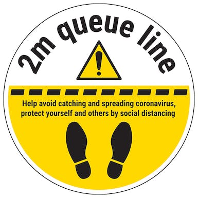 2m Queue Line Temporary Floor Sticker