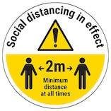 Social Distancing in Effect Temporary Floor Sticker