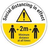 Social Distancing Temporary Floor Sticker