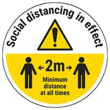 Social Distancing Temporary Floor Sticker