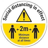 Social Distancing In Effect Temporary Floor Sticker