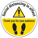 Social Distancing in Effect - Thank You Temporary Floor Sticker