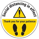 Social Distancing Thank You Temporary Floor Sticker