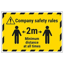 Company Safety Rules Temporary Floor Sticker