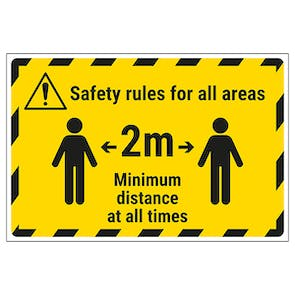 Safety Rules For All Areas Temporary Floor Sticker