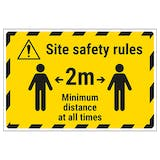 Site Safety Rules - 2m Temporary Floor Sticker