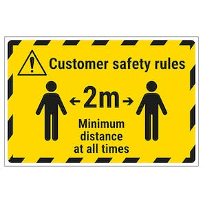 Customer Rules - 2m Temporary Floor Sticker