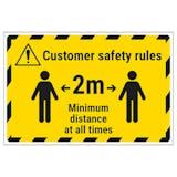 Customer Rules - 2m Temporary Floor Sticker