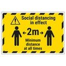 Social Distancing In Effect - 2m - Temporary Floor Sticker