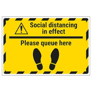 Social Distancing - Queue Temporary Floor Sticker