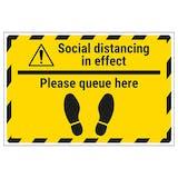 Social Distancing - Queue Temporary Floor Sticker