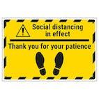 Social Distancing - Thank You Temporary Floor Sticker