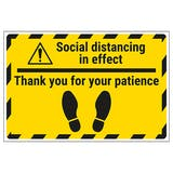 Thank You For Your Patience Temporary Floor Sticker