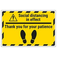 Social Distancing - Thank You Temporary Floor Sticker