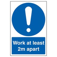 Work At Least 2m Apart