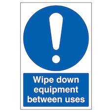 Wipe Down Equipment Between Uses