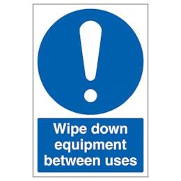 Wipe Down Equipment Between Uses