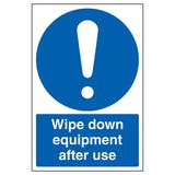 Wipe Down Equipment After Use