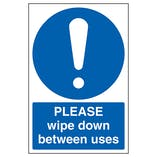 Please Wipe Down Between Uses