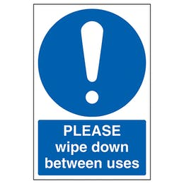 Please Wipe Down Between Uses